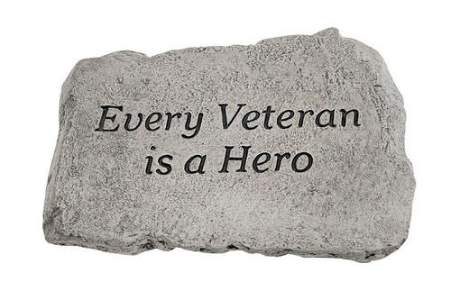 Every Veteran is a hero stone