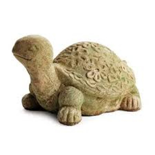 Small weathered garden turtle