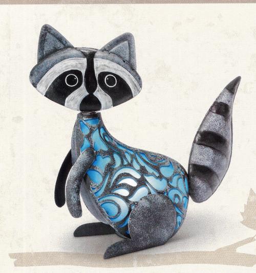 Solar Lighted Raccoon