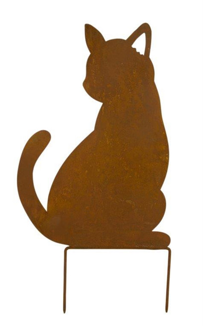 Cat Silhouette Lawn Stake
