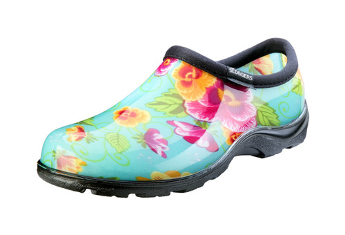 Garden shoe turquoise Pansy Women's 10