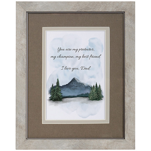 Framed Dad Blessing Picture