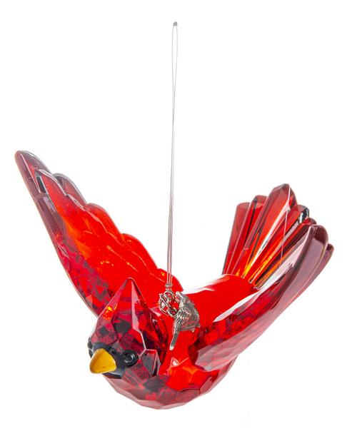 Radiant Cardinal Ornament W Charm