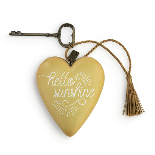 Hello Sunshine Art Heart