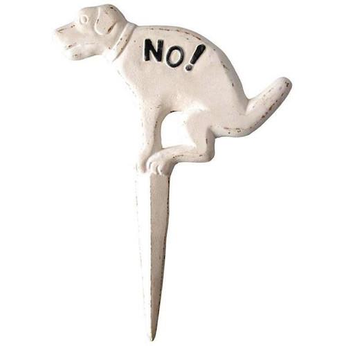 Dog Sign Antique White