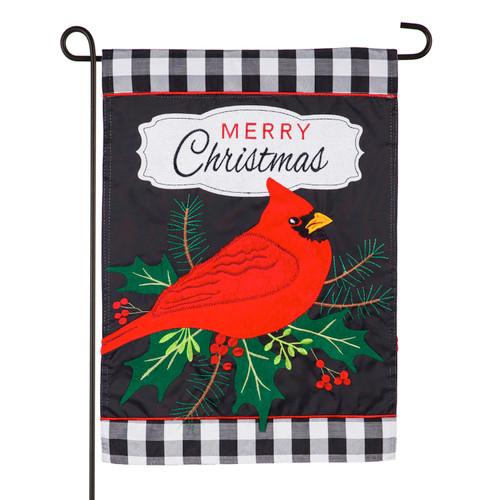 Merry Christmas Cardinal Garden Flag