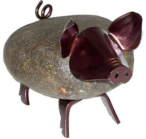 Medium Pig Rock Sculpture