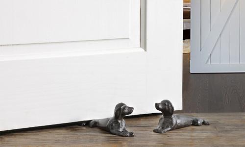 Cast Iron Dog Door Stopper