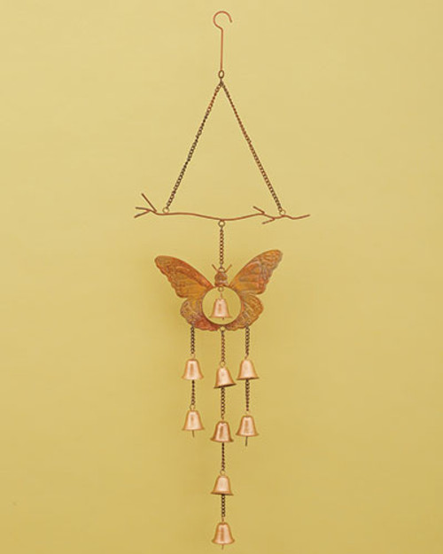 Butterfly With Bells Wind Chime