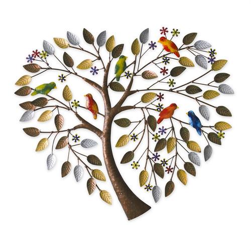 Metal Tree Heart Wall Décor