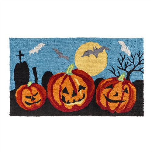 Halloween 3 Pumpkins Rug