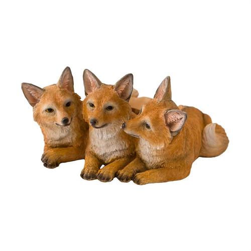 Trio of Foxes Planter