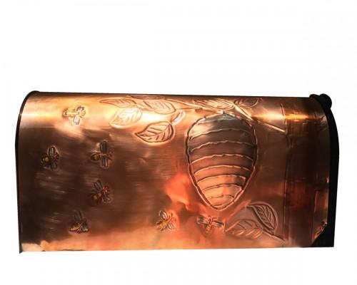 Copper Mailbox Round Bee