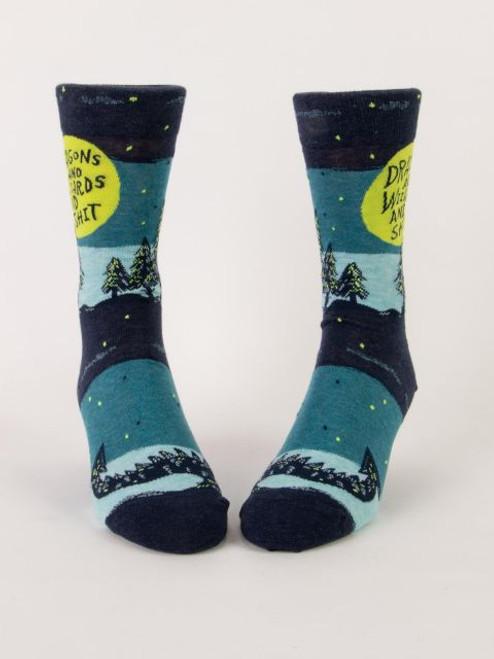 DRAGONS AND WIZARDS AND SHIT M-CREW SOCKS