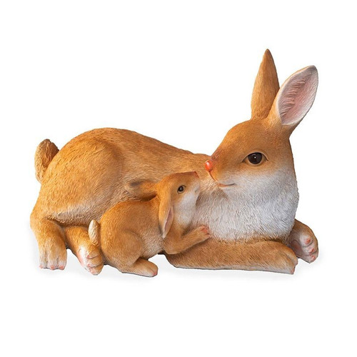 Mother and Baby Rabbit Figure