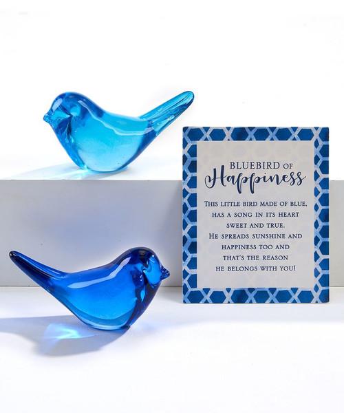 Glass blue bird of happiness