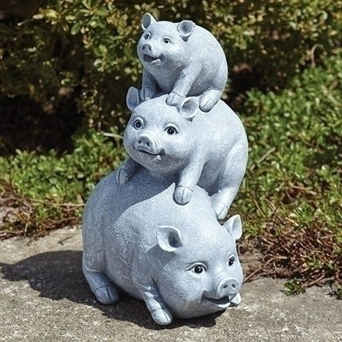 Stacked Pigs Statue