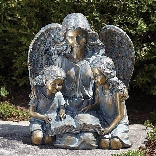 Angel With Children Statue