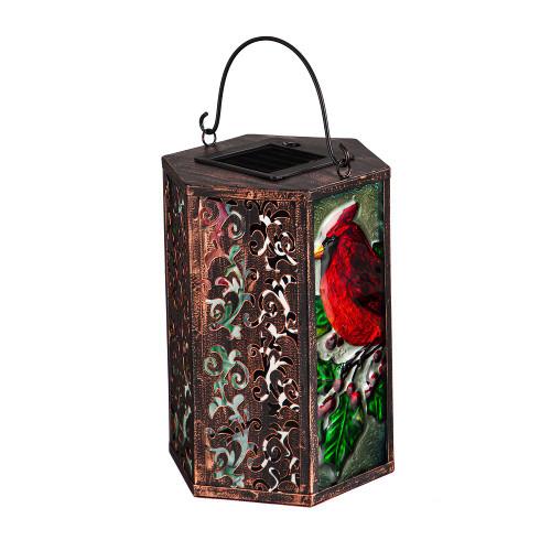 Holiday Cardinal Solar Lantern