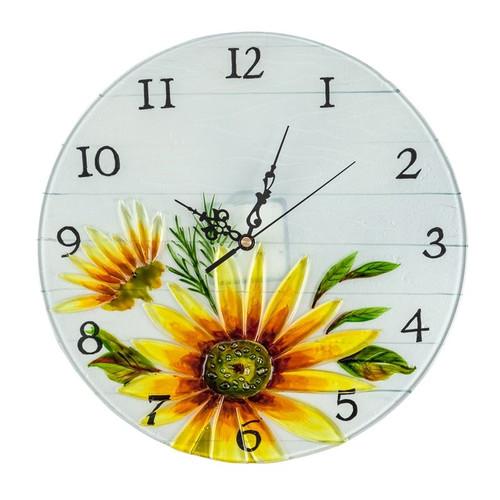 Sunflower Decorative Glass Clock