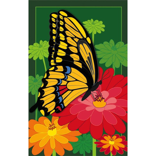 Blossoms & Butterfly House Flag