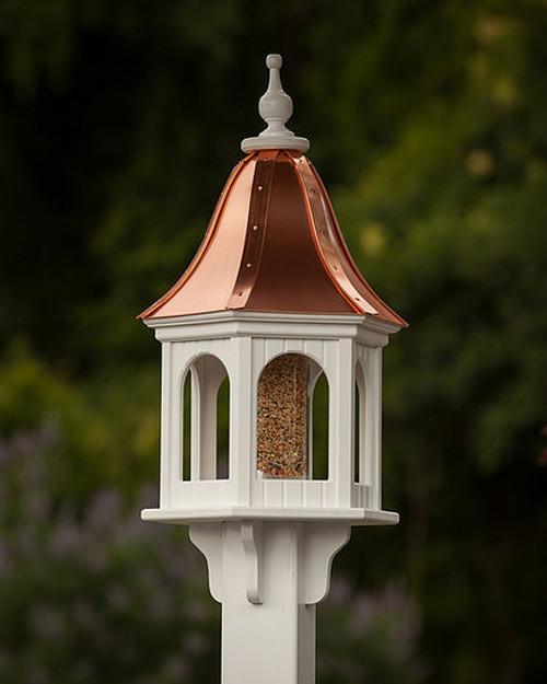 "12"" Birdfeeder - Panela - Bright Copper Roof"