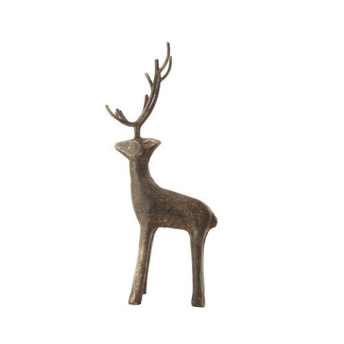 Standing deer made from cast iron.