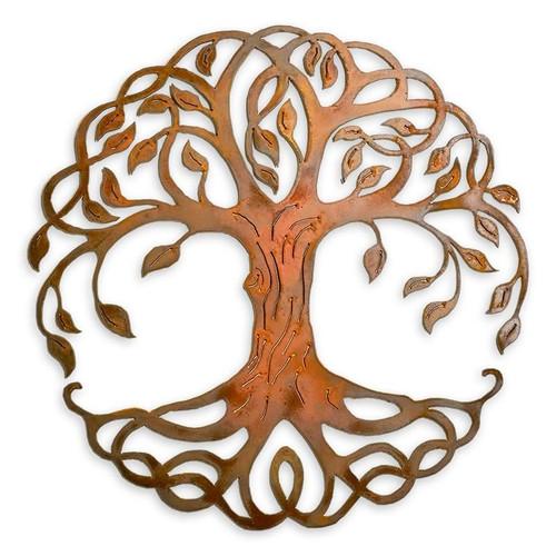 Root Tree Of Life Metal Art