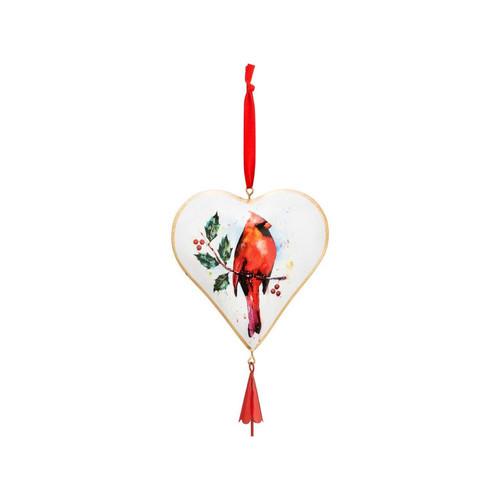 Cardinal Heart Ornament