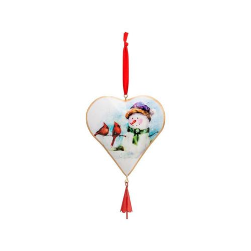 Winter Friends Heart Ornament
