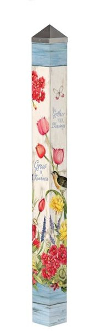 "Bloom with Grace 60"" Art Pole"