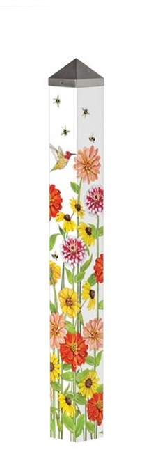 """Birds and Bees 40"""" Art Pole"""