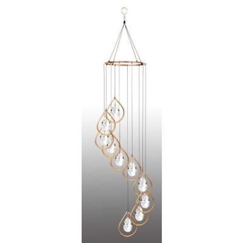 Copper Teardrop Ring W/Crystals