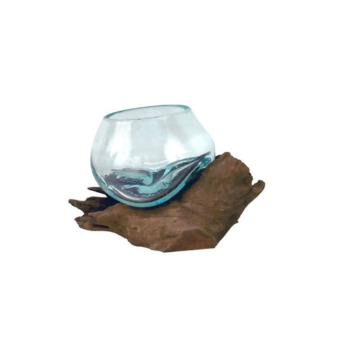 Bubble Glass On Driftwood Medium