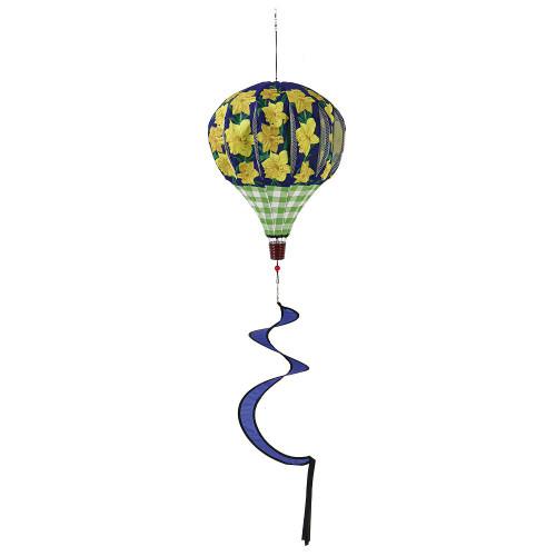 Daffodils and Checks Burlap Balloon