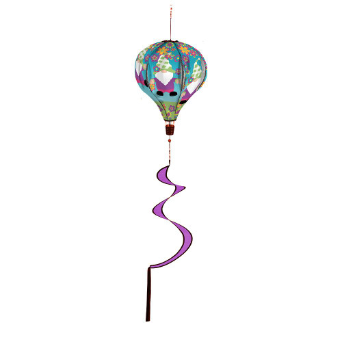 Gnome Dancing Animated Burlap Balloon Spinner