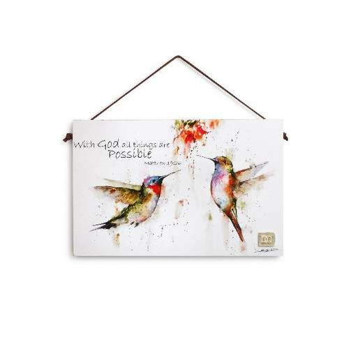 Inspirational Hummingbird Plaque