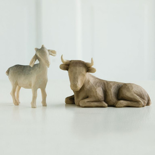 Willow Tree Ox and Goat nativity Pieces
