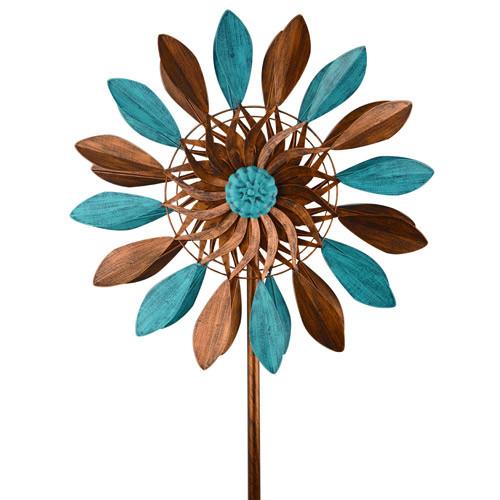 Blue & Bronze Leaf Spinner