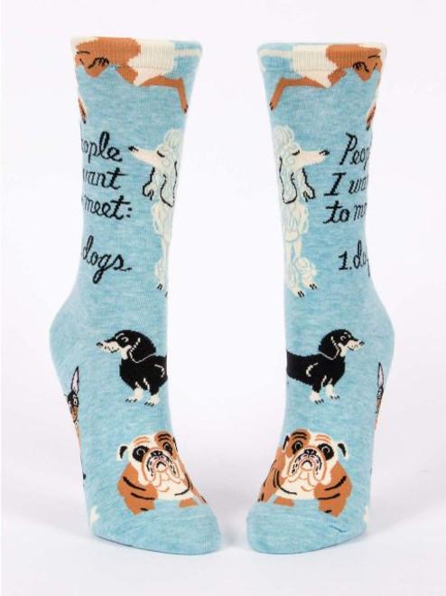 Blue Q People to meet dog crew socks