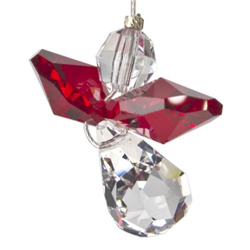 Crystal Suncatcher Guardian Angel January