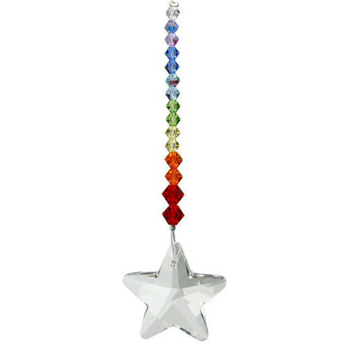 Crystal Daydreams Rainbow Star Suncatcher
