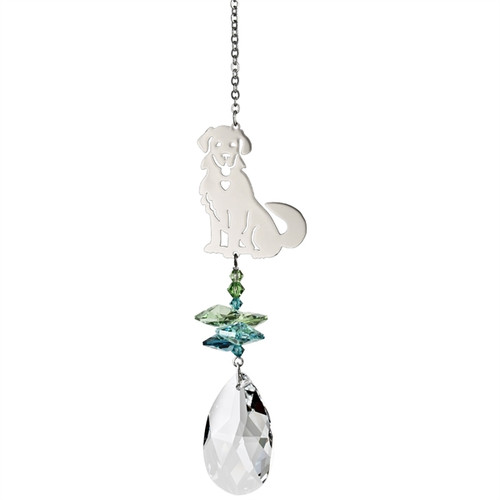 Crystal Fantasy Dog Suncatcher