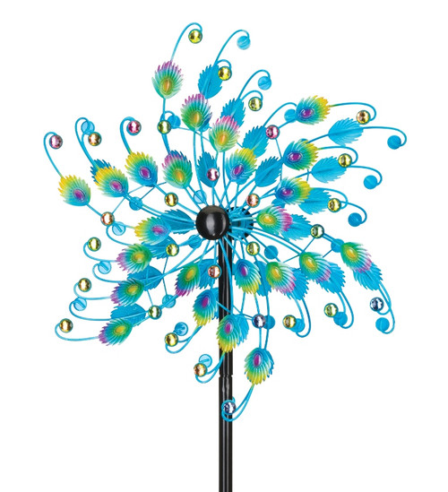 Jeweled Peacock Wind Spinner