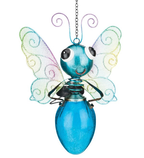 Solar Buttefly Lantern Blue