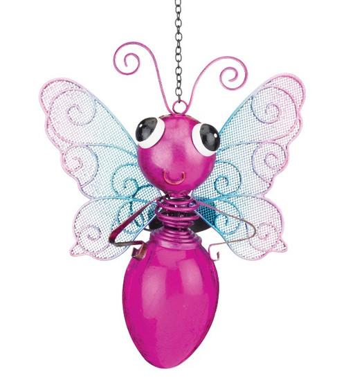 Solar Dragonfly Lantern Pink