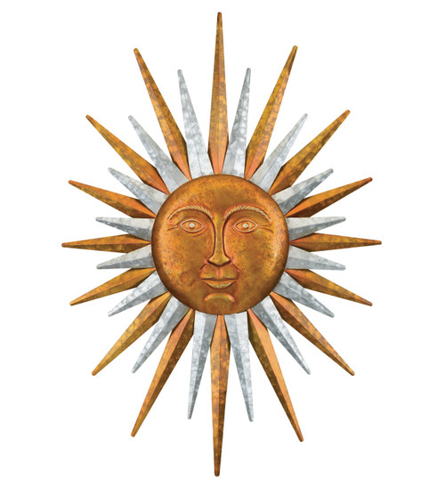 Galvanized Sun Wall decor