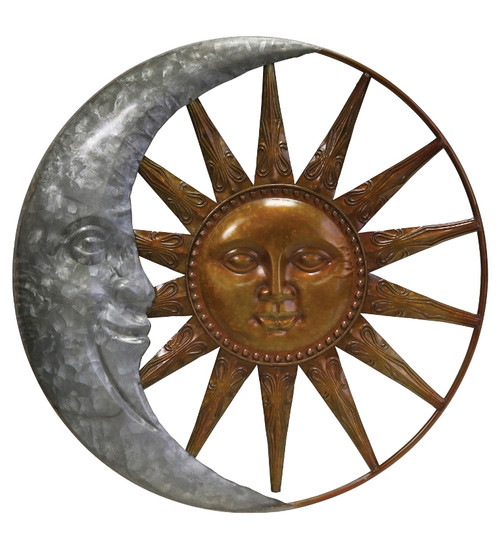 Galvanized Sun And Moon