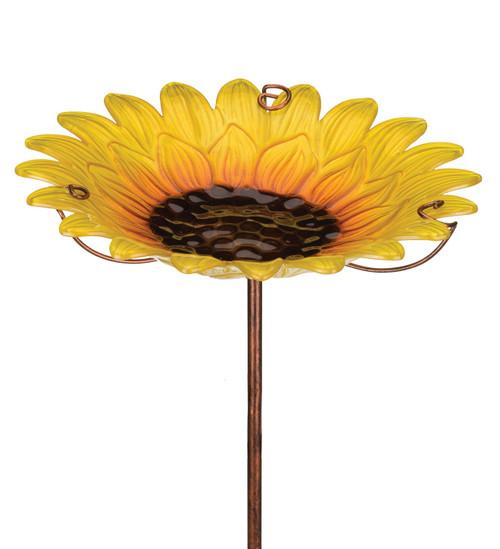Sunflower Birdbath/Bir Feeder Stake