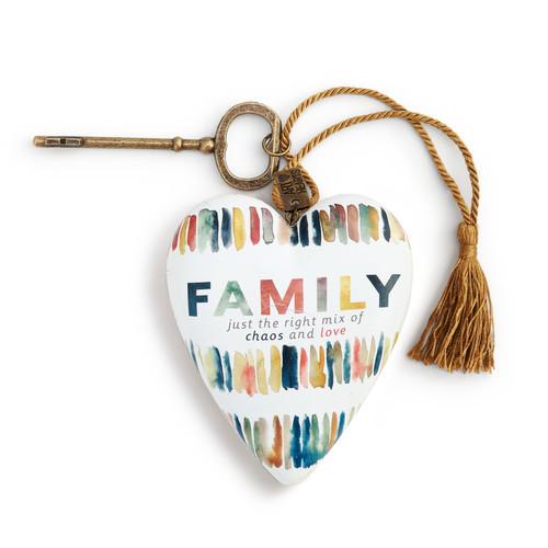 Family Chaos Art Heart
